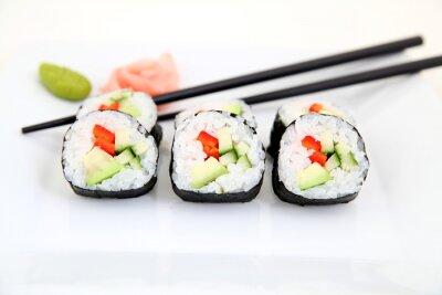 Fototapeta pyszne Futomaki, Sushi - japoński żywności