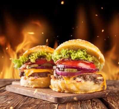 Fototapeta Pyszne hamburgery
