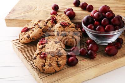 pyszne żurawinowe ciasteczka ze świeżą żurawiną na Boże Narodzenie.