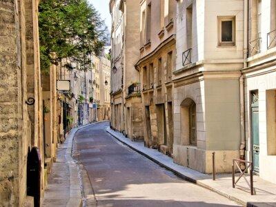 Fototapeta Quaint street in the Latin Quarter of Paris, France