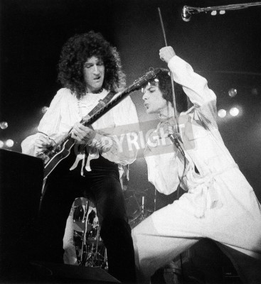 Fototapeta Queen concert - A day at the races in 1976