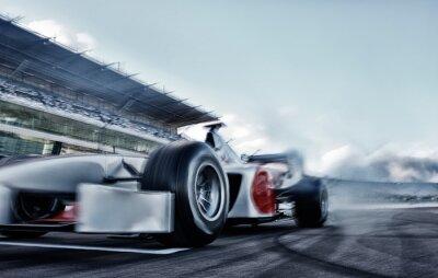 Fototapeta Race car driving on track
