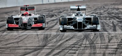 Fototapeta Race cars driving on track