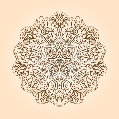 Fototapeta Radial kwiatowy wzór