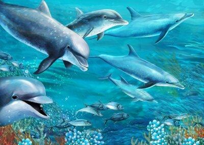 Fototapeta Rafa koralowa - ilustracja dla dzieci