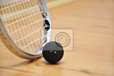 rakieta do squasha i piłkę