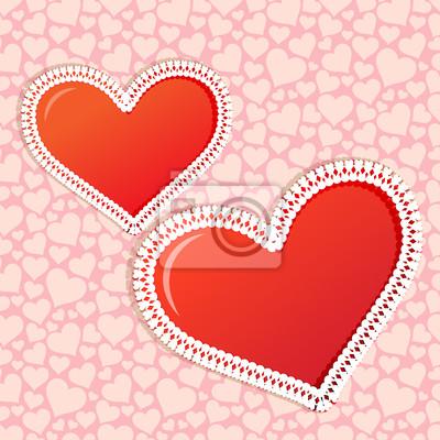 Rama i wzór z serca przez Wedding