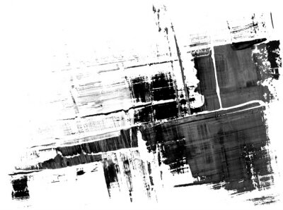 Fototapeta Ramka splatter abstrakcyjne farby w czerni i bieli