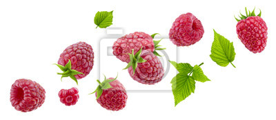Fototapeta Raspberry isolated on white background