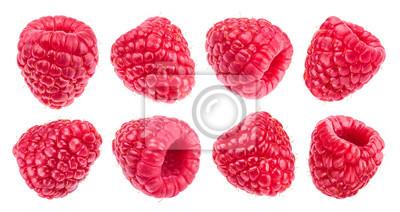 Fototapeta Raspberry isolated on white background. Collection