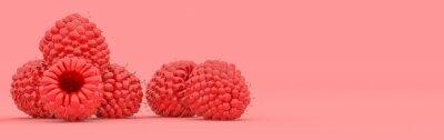 Fototapeta raspberry on a red background