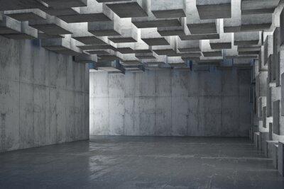 Fototapeta Raum mit Betonblöcken