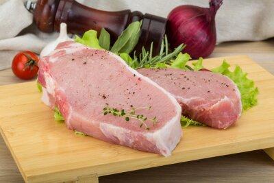 Fototapeta Raw stek wieprzowy