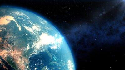 Fototapeta Realistic Earth closeup render