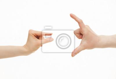 Fototapeta Ręce pokazując różne wielkości - od małych do dużych