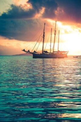 Fototapeta Recreational Yacht at the Indian Ocean