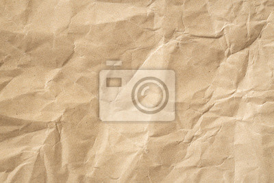 Fototapeta Recycle brown paper crumpled texture, Old paper surface for background.