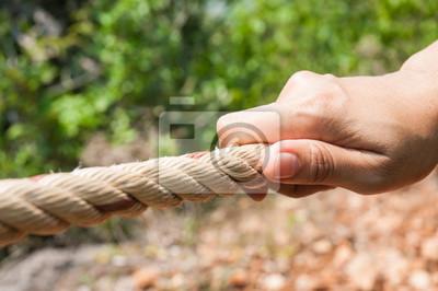 Ręcznie ciągnięcie liny