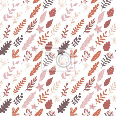 Ręcznie rysowane jesień kwiatowy wzór. Nowoczesny design do pakowania papieru, okładek, tkanin i innych użytkowników. Tapeta wektor.