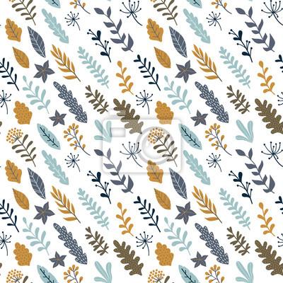 Ręcznie rysowane kwiatowy wzór. Nowoczesny design na papier pakowy, okładkę, tkaninę itp. Tapeta wektorowa.