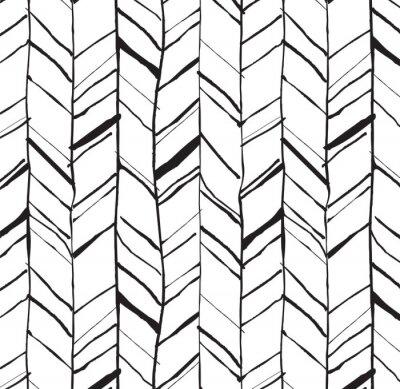 Fototapeta Ręcznie rysowane wzór w jodełkę
