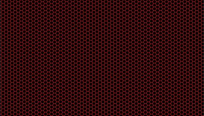 Fototapeta Red background and black hexagons