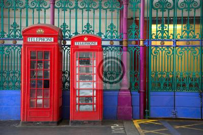 Fototapeta Red english phone booths