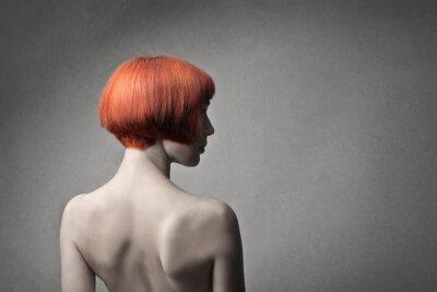 Fototapeta red fryzura