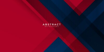 Fototapeta Red gradient blue box rectangle abstract background vector presentation design