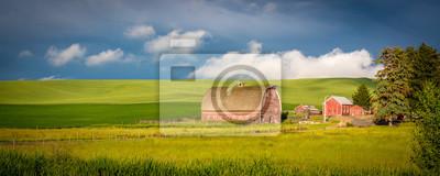 Fototapeta Red stodoła w kraju farmy Idaho