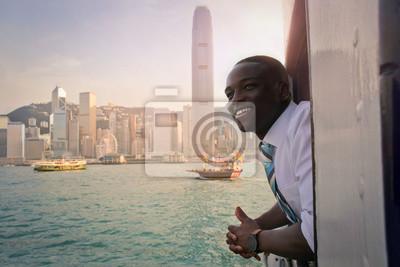 Fototapeta Rejs statkiem w Hong Kongu