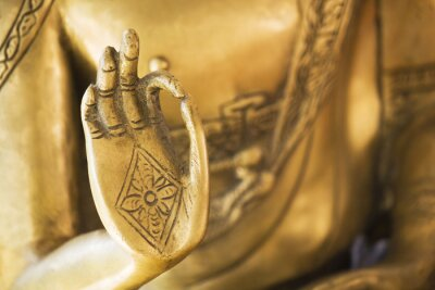 Fototapeta Ręka Złotego Buddy 02