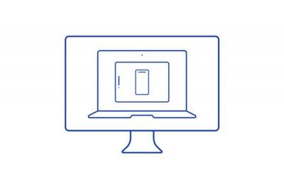 Fototapeta responsive webdesign for different devices