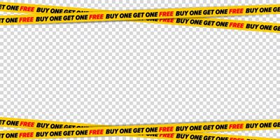 Fototapeta Restricted ribbon with buy one get one free offer