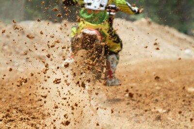 Fototapeta Resztki błota z wyścigu motocross