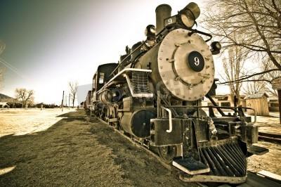 Fototapeta Retired steam locomotive, Bishop, California