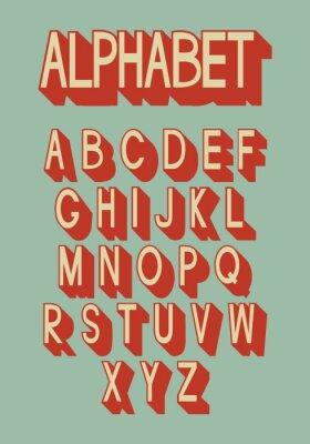 Fototapeta Retro alfabetu.