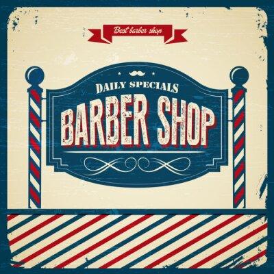 Fototapeta Retro Barber Shop - styl vintage