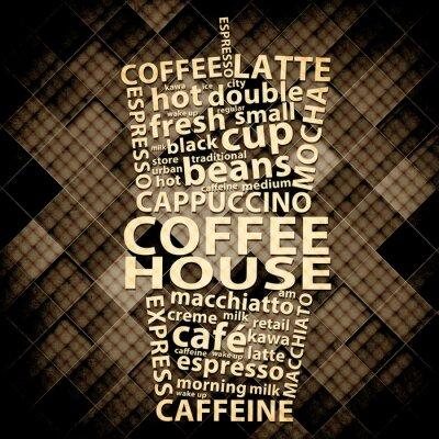 Fototapeta Retro Coffee Grunge plakatu