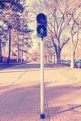 Fototapeta Retro filtrowane zdjęcie światłach, zielony kolor.