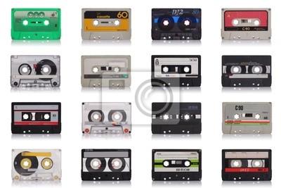 Fototapeta retro kasety muzyka