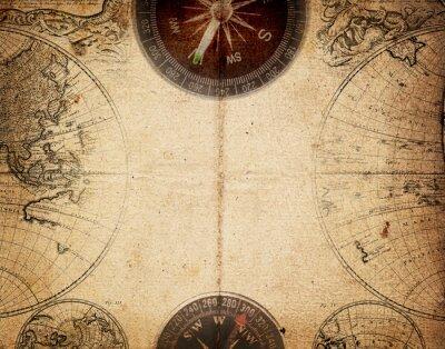 Fototapeta retro kompas