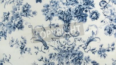 Fototapeta Retro kwiatowy wzór tkaniny tle