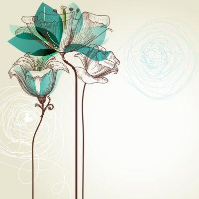 Fototapeta Retro kwiatu tła