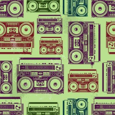 Fototapeta retro radio na ścianę pubu