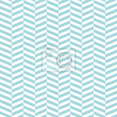 Fototapeta Retro Seamless Pattern Zig Zag Turquoise