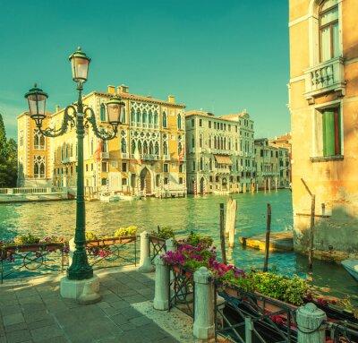 Fototapeta Retro styl obraz Canal Grande, Wenecja, Włochy