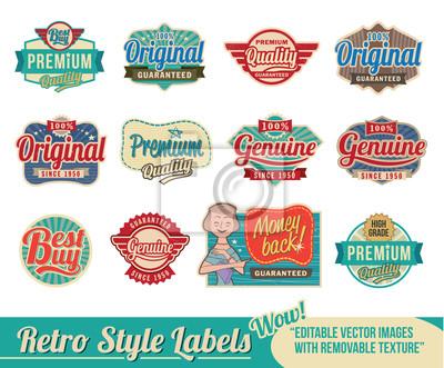 Fototapeta Retro vintage labels