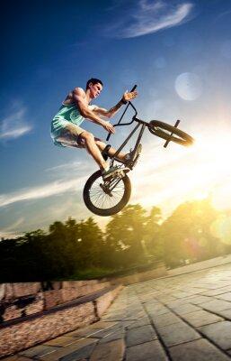 Fototapeta rider rower bmx na najważniejszych