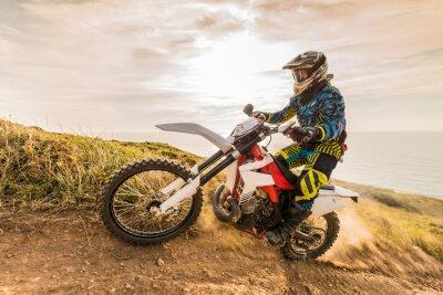 Fototapeta Rider rower enduro
